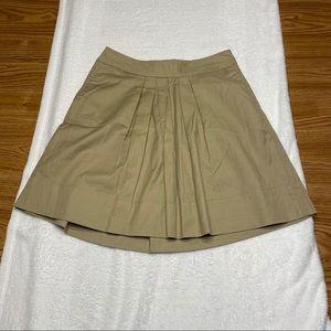 Loft Khaki Ruffled Skirt Size 4P